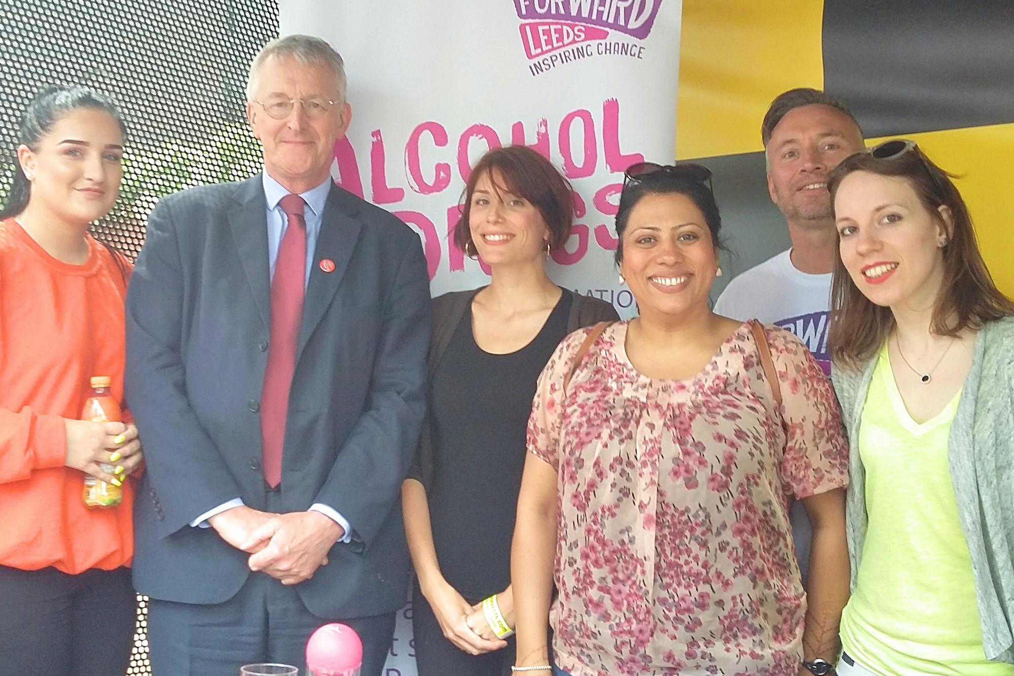 Hilary Benn MP with Forward Leeds staff