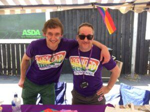 Pete and David at Pride
