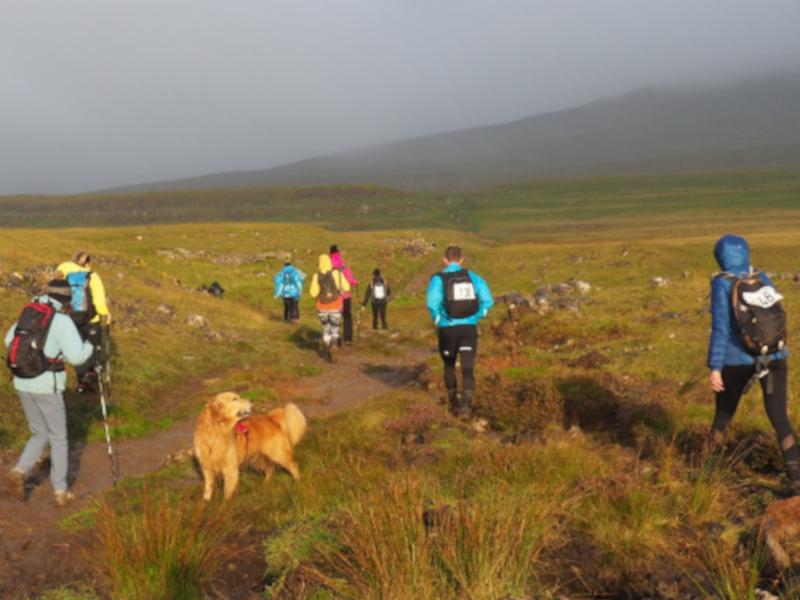 walkers on hills